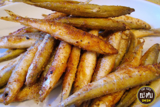 Deep-fried smelt fish