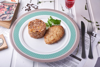 Chicken cutlet with buckwheat
