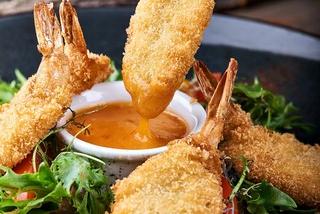 Креветки панко с кисло сладким соусом