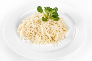 Homemade noodles with butter