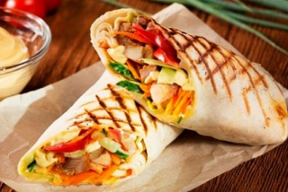 Lavash with chicken