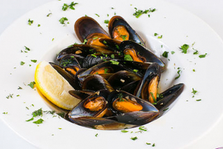 Mussel in wine sauce