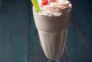 Milkshake with banana