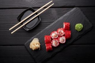 Mini roll salted salmon