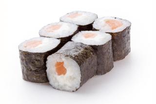 Mini roll creamy salmon