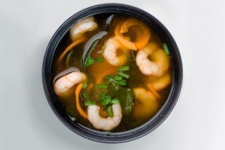 Miso with Shrimps