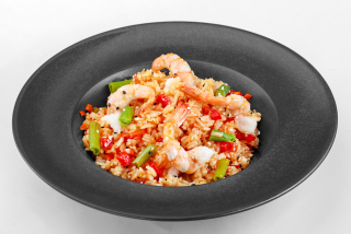 Thai rice with shrimp