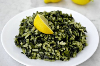 Rice with spinach