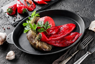 Grilled sweet pepper