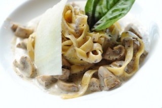 Tagliatelle al Tartufo with wild mushrooms &truffle cream
