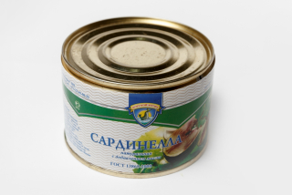 Sardinella natural with oil