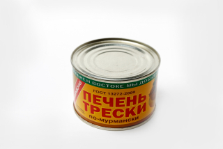 Cod liver in Murmansk