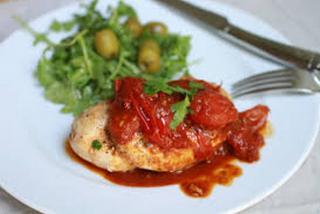 Куриная грудка с Сицилийским соусом