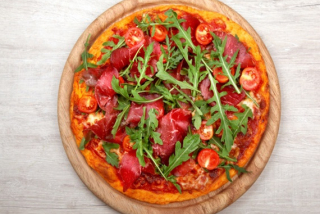 Pizza with Bresaola