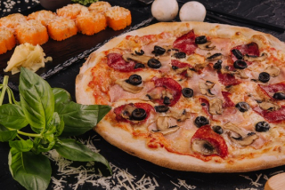 Pizza Siciliana & Roll chicken la cuptor