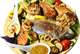 Mixed fish platter