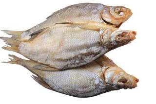 Плотва вяленая (весовое блюдо)