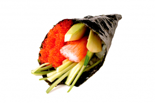 Red Tobiko Hand Roll