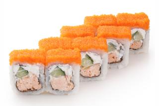 Roll Philadelphia with baked salmon
