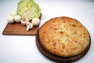 Осетинские пироги со свежей капустой и грибами