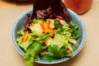 Salad of baked, seasonal vegetables