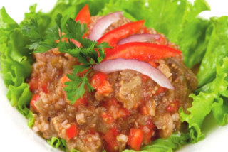 Spicy eggplant salad