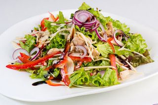 Salad with celery and chicken