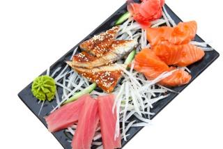 Sashimi eel