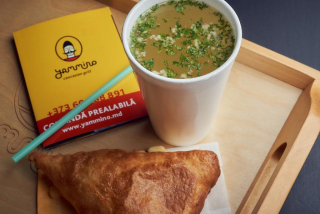 Khachapuri + chito pâine cu cașcaval + bulion