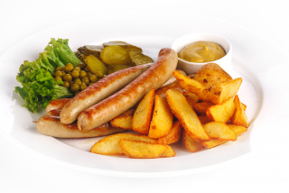 Bavarian sausages grill