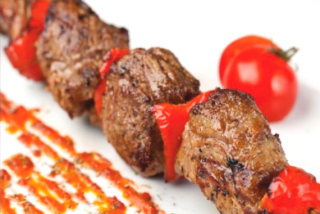 Skewers of lamb