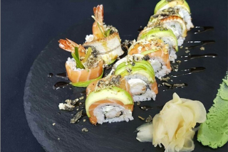 Splendid Unagi & Salmon Dragon Roll