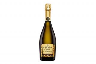 Шампанское Cricova Chardonnay, белое полусухое