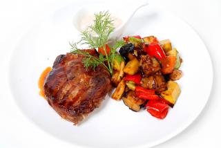 Steak din ceafă de porc