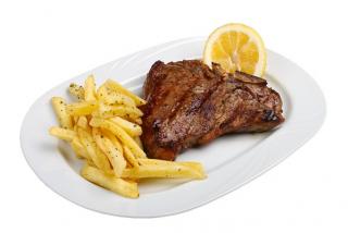 T-bon steak with garnish