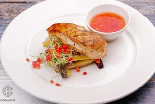 Стейк куриный с хрустящими овощами