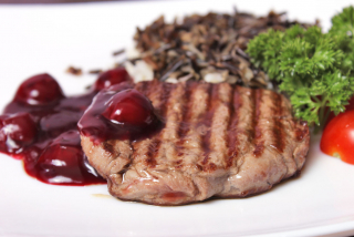 Beef Steak with berry sause