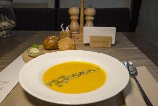 Cream of pumpkin soup