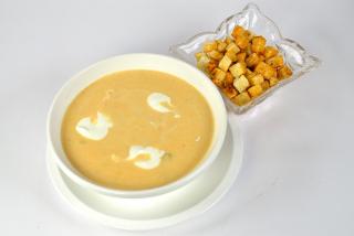 Суп-крем куринный и грибной
