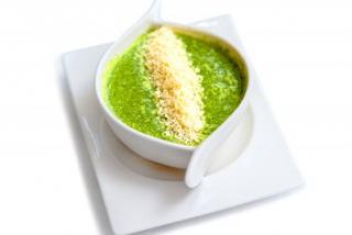 Суп крем из шпината с креветками