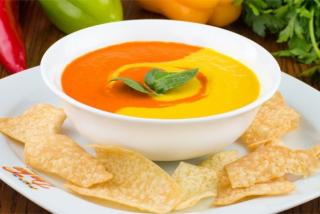 Суп-крем из запеченых перцев