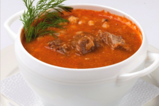 Spicy lamb soup