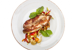 Pork with vegetables saute