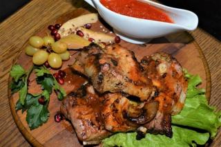 Smoked pork ribs in Jack Daniels Glaze