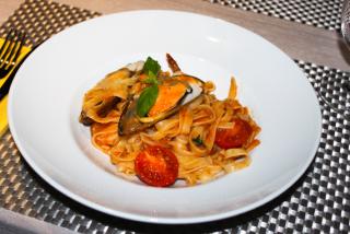 Tagliatelle с морепродуктами