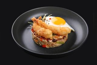 Тайский рис с креветками темпура