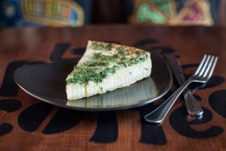 Пирог 4 сыра со шпинатом