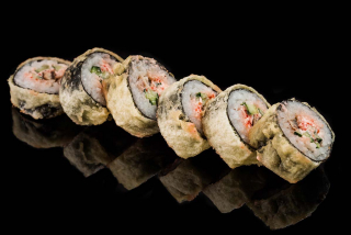 Hot roll with eel