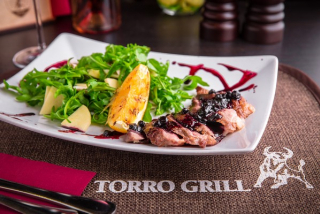 Warm salad with duck breast