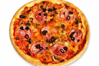 Pizza ham & mushrooms